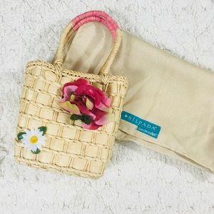 Mini picnic Basket weaves handbag